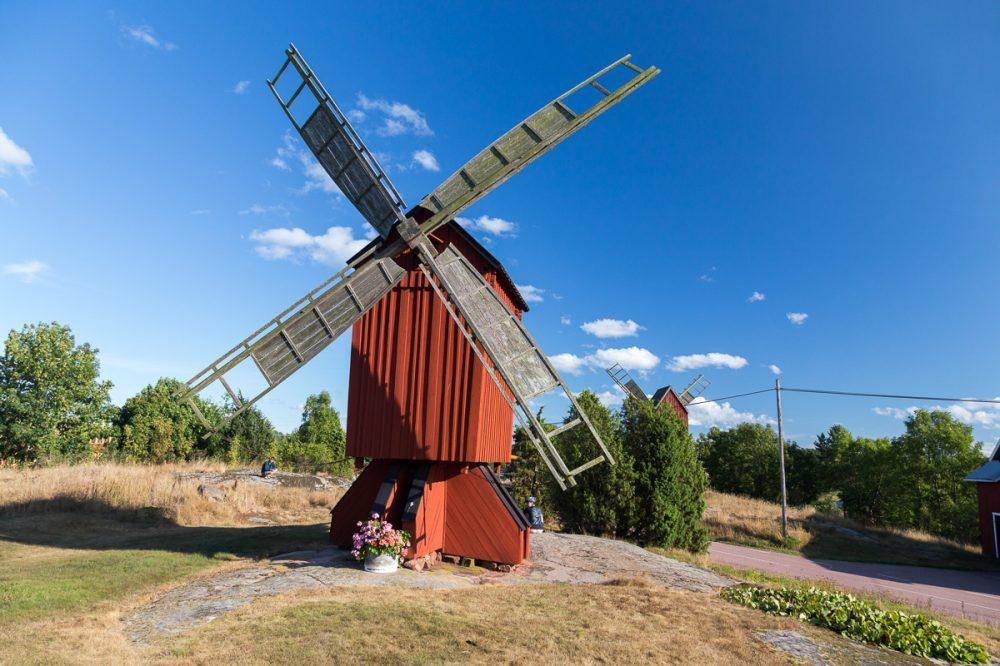 Windmühle, Aland, Finnland