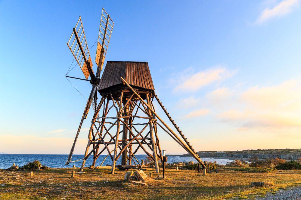 Schleifmühle in Jordhamn, Öland, Schweden