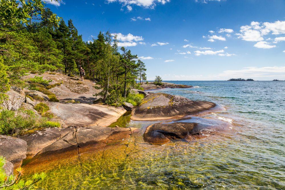 Badeplatz am Nordvättern, Schweden