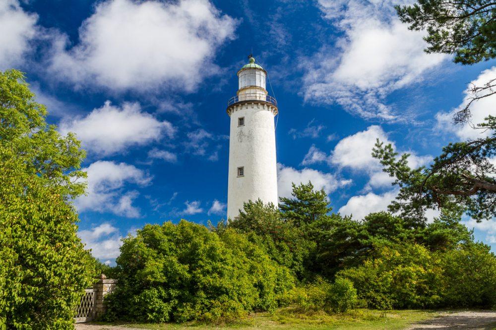 Fårö Leuchtturm, Fårö, Gotland, Schweden