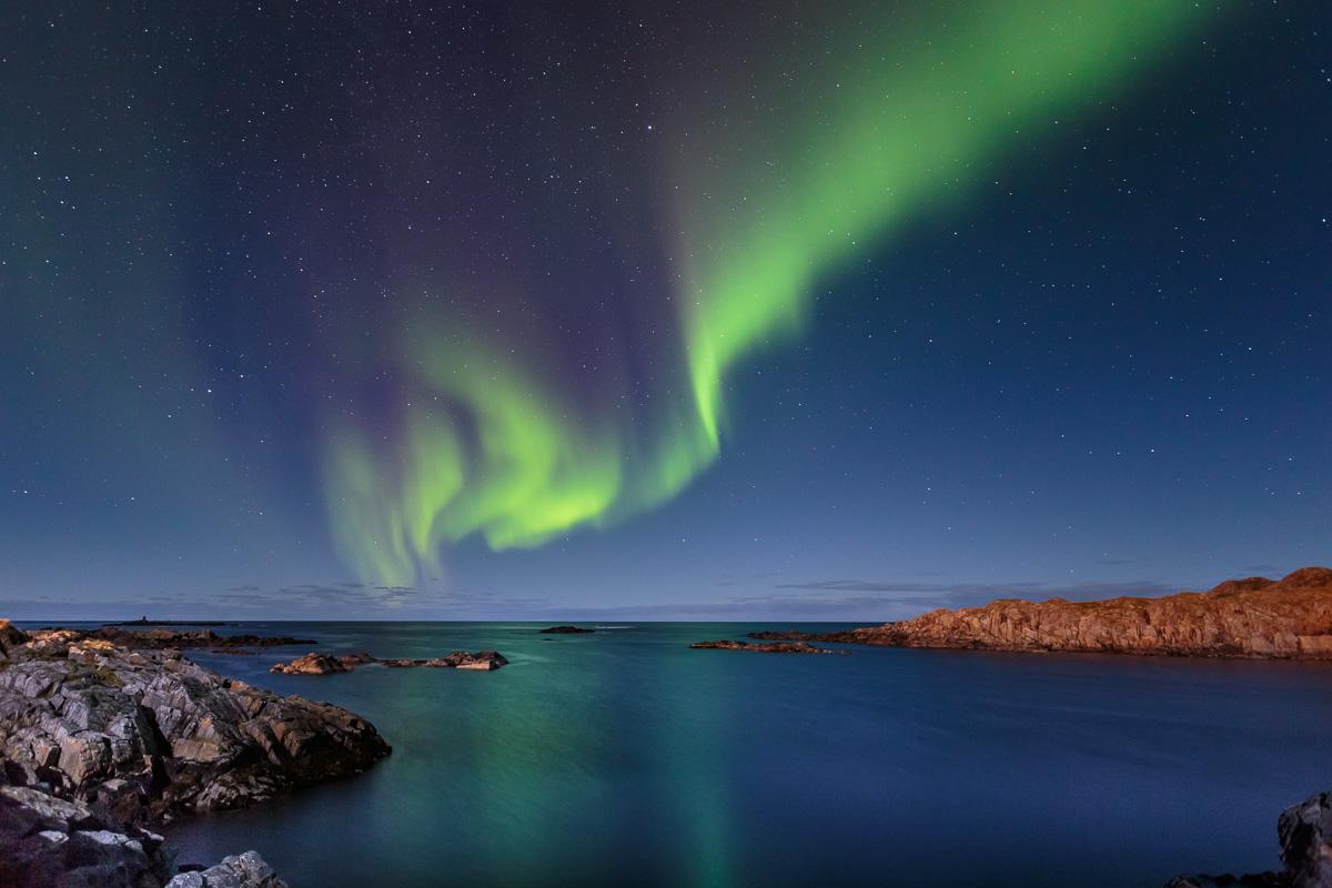 Nordlicht, Hovden, Bo, Vesterålen, Norwegen