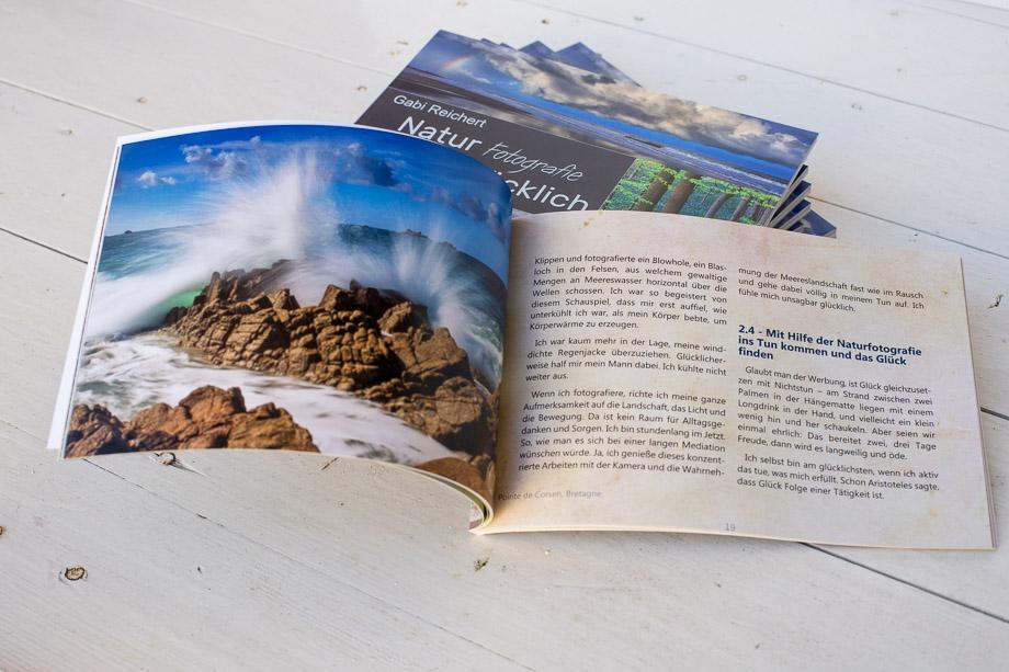 Erste Version des Buches: Natur-Fotografie macht glücklich