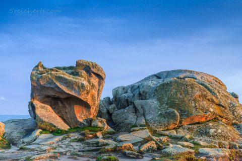 Felsen im Abendlicht, Lesconil