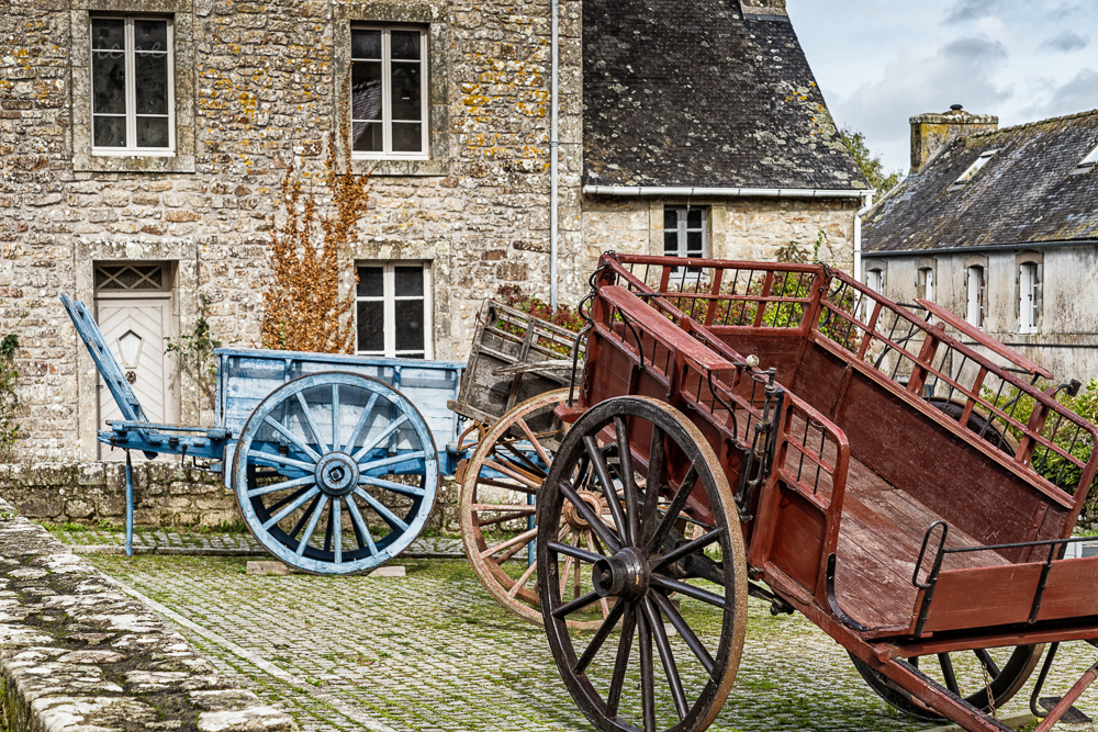Alte Pferdewagen, Loconan, Bretagne