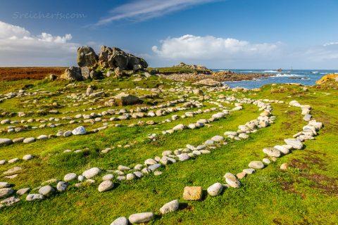 Steinkreis auf der Halbinsel Saint-Laurent, Bretagne