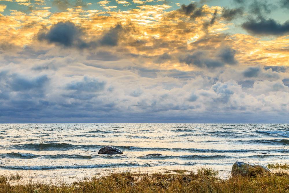 Blick über die Ostsee, Kronholmen, Gotland, Schweden, Kalender: Sehnsucht nach dem Meer