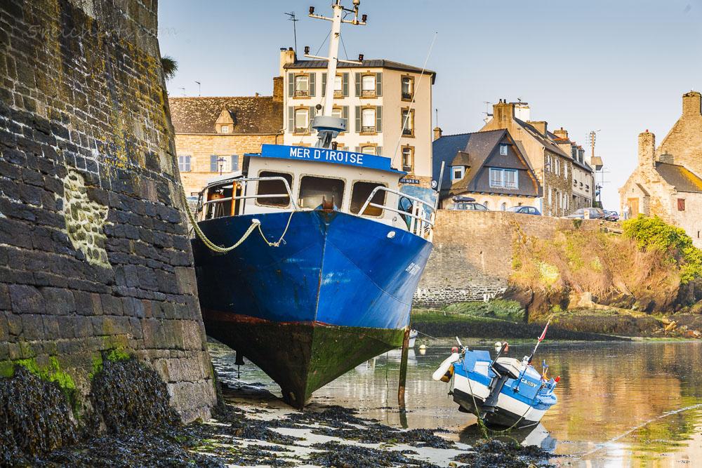 Ein älteres Fotos aus dem Hafen von Le Conquet