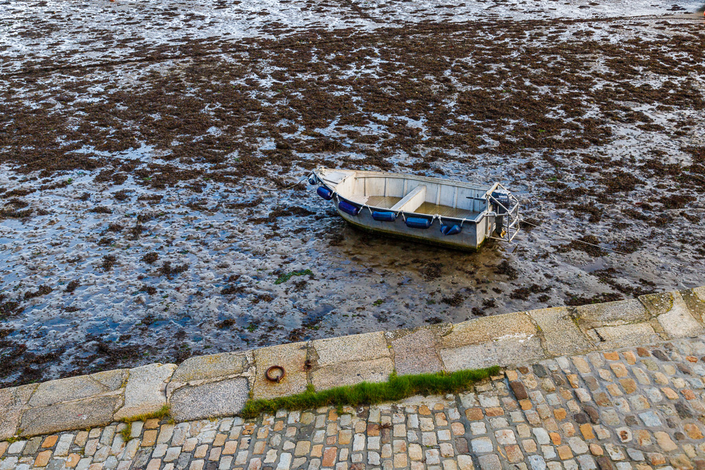 Boot bei Ebbe, Le Conquet