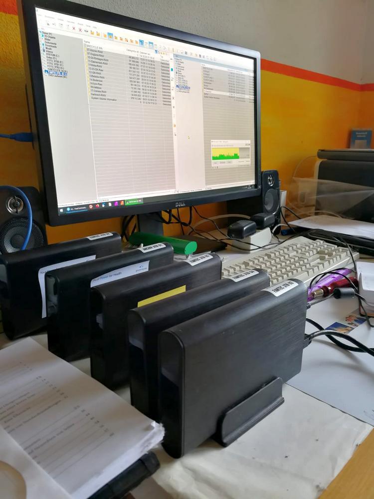 Datensicherung auf externe Festplatten