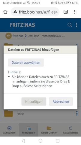 Fritz Box Daten Übertragung