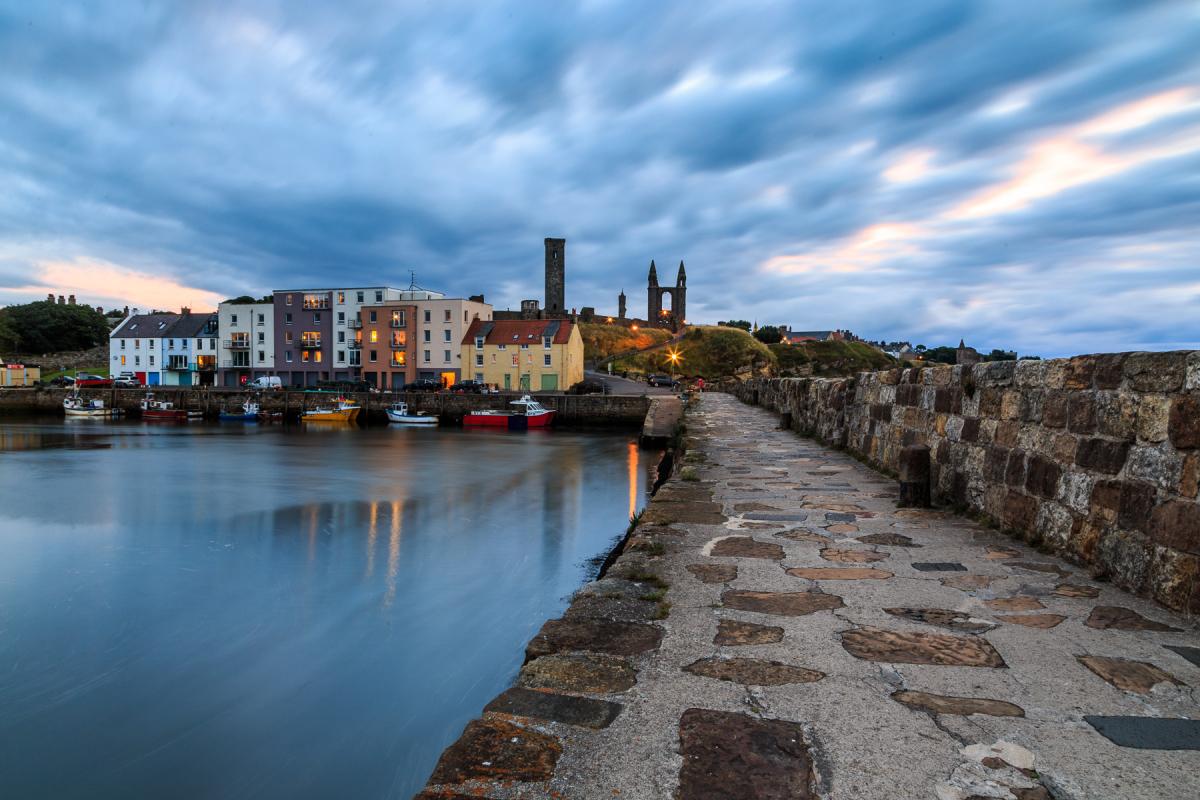 Hafen St Andrews, Fife, Schottland