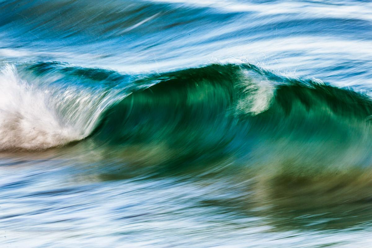 rollende Welle, Sandness, Lofoten, Norwegen